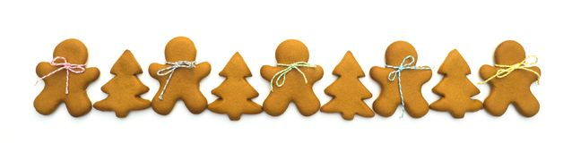 Christmas cookies isolated on white background. Christmas baking. Making gingerbread christmas cookies. Christmas concept. Christmas cookies isolated on white Stock Photos