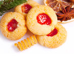 Christmas cookies isolated on white. Stock Photography