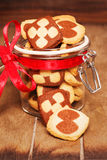 Christmas cookies in a jar Stock Image