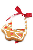 Christmas cookies with a label Stock Images