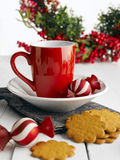 Christmas Cookies And Milk For Santa Claus Stock Images