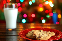 Christmas cookies and milk Stock Photography