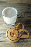 Christmas cookies and milk Royalty Free Stock Photo