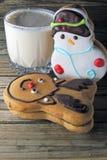 Christmas cookies and milk Stock Image