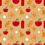 Christmas cookies pattern Stock Image