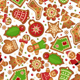 Christmas cookies pattern Stock Photo