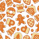 Christmas Cookies Pattern Royalty Free Stock Images
