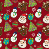 Christmas cookies pattern 1 Royalty Free Stock Image