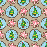Christmas cookies pattern 4 Royalty Free Stock Images