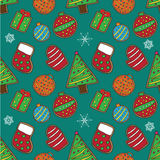 Christmas cookies pattern 2 Royalty Free Stock Photo
