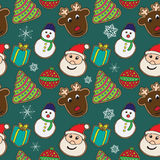 Christmas cookies pattern Stock Photo