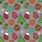 Christmas cookies pattern 3 Stock Photos