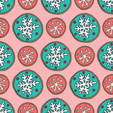 Christmas cookies pattern 6 Royalty Free Stock Image