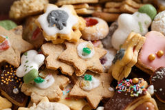 Christmas Cookies. Pile of homemade Christmas Cookies Royalty Free Stock Photo