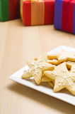 Christmas cookies on a plate Stock Image