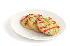 Christmas cookies on a plate Royalty Free Stock Image