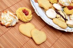 Christmas cookies on plate Royalty Free Stock Photo