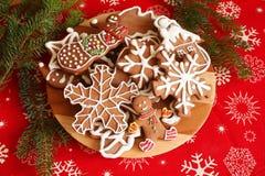 Christmas cookies plate Stock Photos
