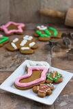 Christmas Cookies on a Plate Royalty Free Stock Photo