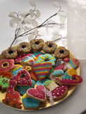 Christmas cookies on a plate Stock Photography
