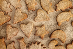 Christmas cookies  with powder sugar Stock Images