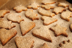 Christmas cookies  with powder sugar Royalty Free Stock Photo