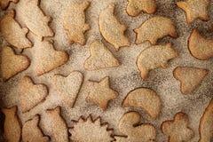 Christmas cookies  with powder sugar Stock Photos