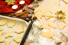 Christmas cookies preparation Stock Photo