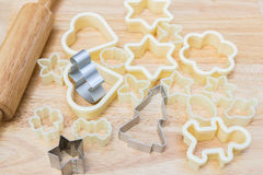 Christmas cookies preparation Royalty Free Stock Photos