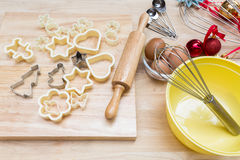Christmas cookies preparation Royalty Free Stock Photo
