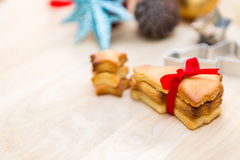 Christmas cookies preparation Stock Images