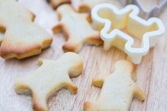 Christmas cookies preparation Royalty Free Stock Images
