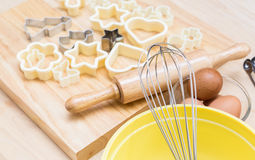 Christmas cookies preparation Stock Image