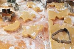 Christmas cookies preparation Stock Photo