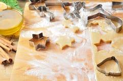 Christmas cookies preparation Stock Image
