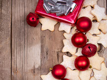 Christmas cookies with present Royalty Free Stock Photo
