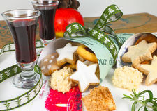 Christmas cookies and punch Royalty Free Stock Image