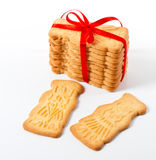 Christmas cookies with red ribbon Royalty Free Stock Photo