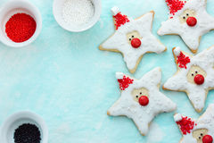 Christmas cookies santa claus, creative idea for treats kids, ho