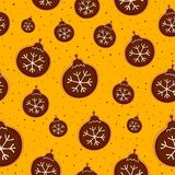 Christmas cookies seamless pattern. Christmas decoration of pattern from festive cookies with chocolate.  Seamless texture. Vector illustration Stock Image