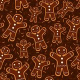 Christmas cookies seamless pattern. Christmas festive decoration. Seamless pattern from cookies with chocolate. Vector illustration Royalty Free Stock Photography