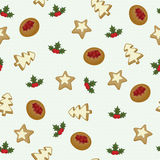 Christmas cookies seamless wallpaper Stock Photos