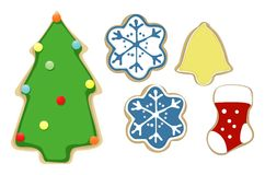 Christmas cookies set Royalty Free Stock Photos