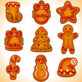 Christmas cookies. set Royalty Free Stock Photos