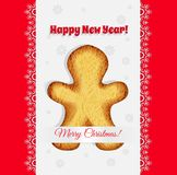 Christmas cookies in the shape of a gingerbread man vector Stock Images