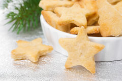 Christmas cookies in the shape of a star close-up Royalty Free Stock Photo