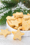 Christmas cookies in the shape of a star, selective focus Stock Photos