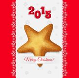 Christmas cookies in the shape of a star vector Royalty Free Stock Images