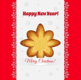 Christmas cookies in the shape of a star vector Royalty Free Stock Photos