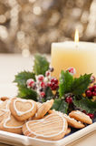 Christmas cookies, short bread in festive setting Stock Photo
